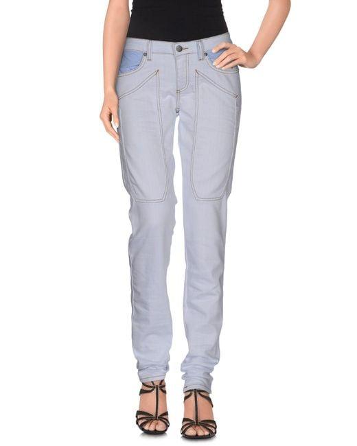Jeckerson - Blue Denim Trousers - Lyst