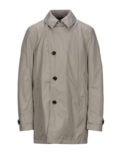 Allegri Gray Overcoat for men