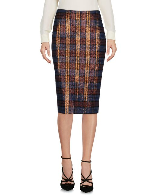 Pinko - Blue Knee Length Skirts - Lyst