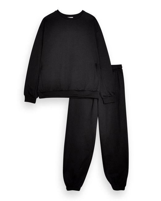 TOPSHOP Black Fleece Set