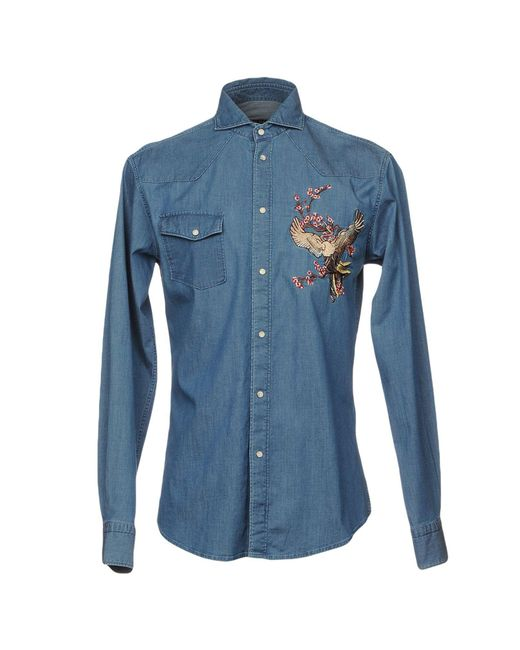 Brian Dales - Blue Denim Shirt for Men - Lyst