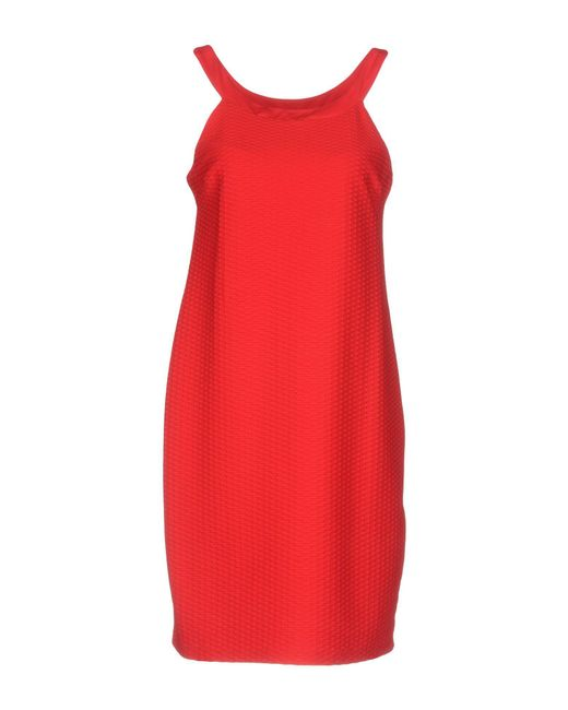 Fisico - Red Short Dress - Lyst