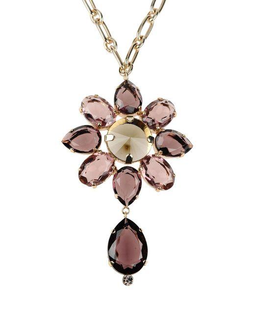 Alberta Ferretti | Purple Necklace | Lyst
