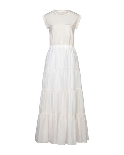 Peserico White Langes Kleid