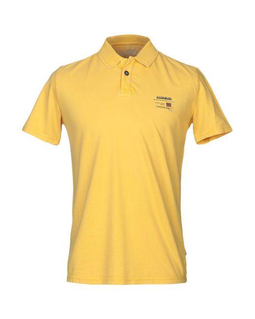 Polo Napapijri pour homme en coloris Yellow