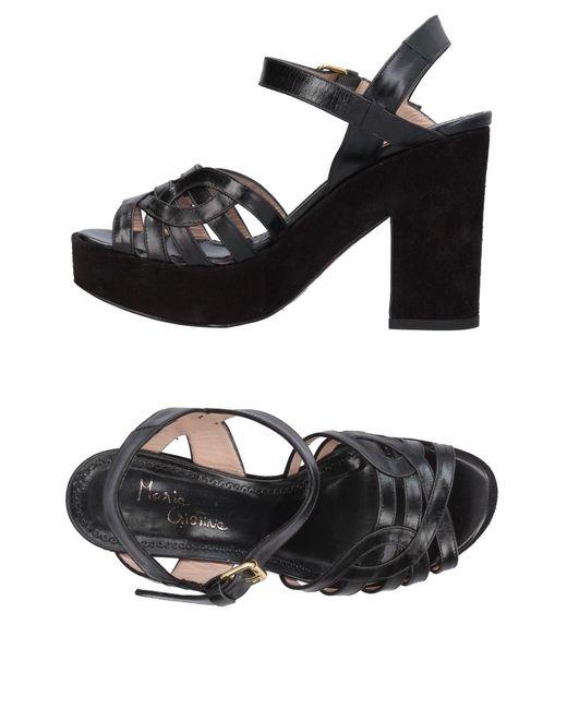 Maria Cristina | Black Sandals | Lyst