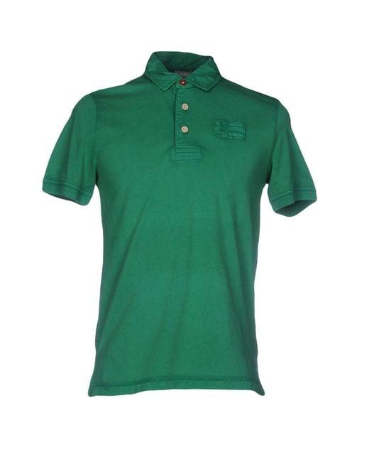 Napapijri Green Polo Shirt for men