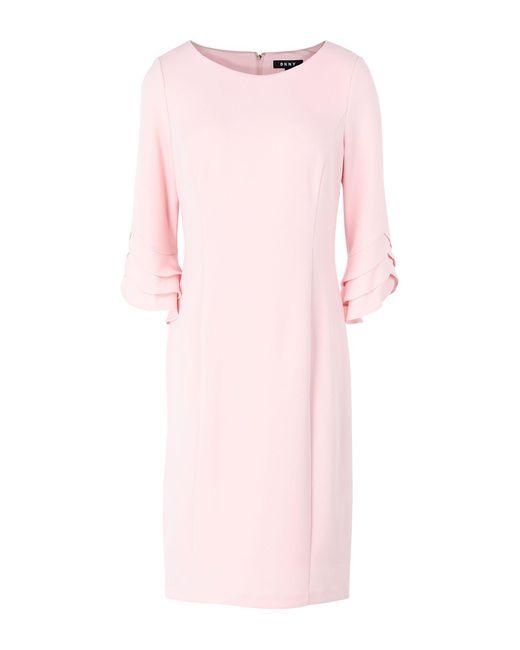 DKNY Minivestido de mujer de color rosa