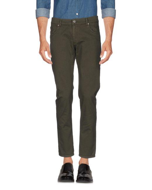 Grey Daniele Alessandrini Green Casual Pants for men