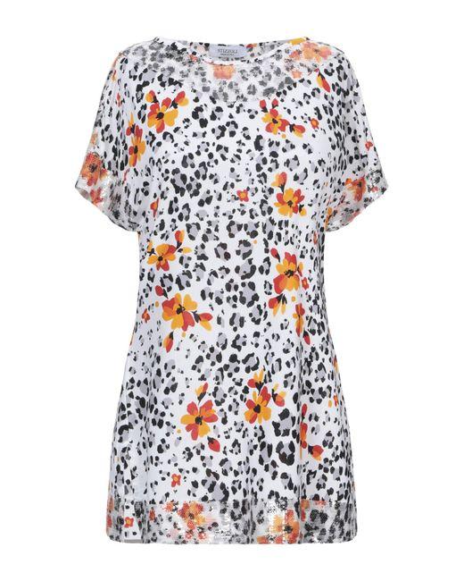 Stizzoli Camiseta de mujer de color blanco MjOS2