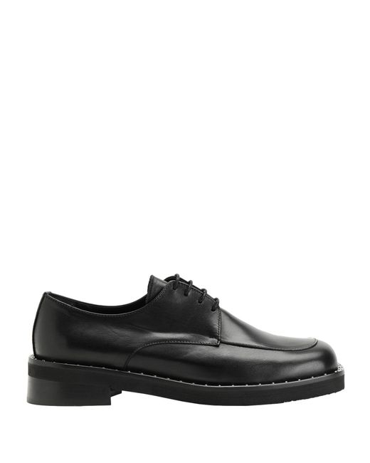 8 by YOOX Black Lace-up Shoe