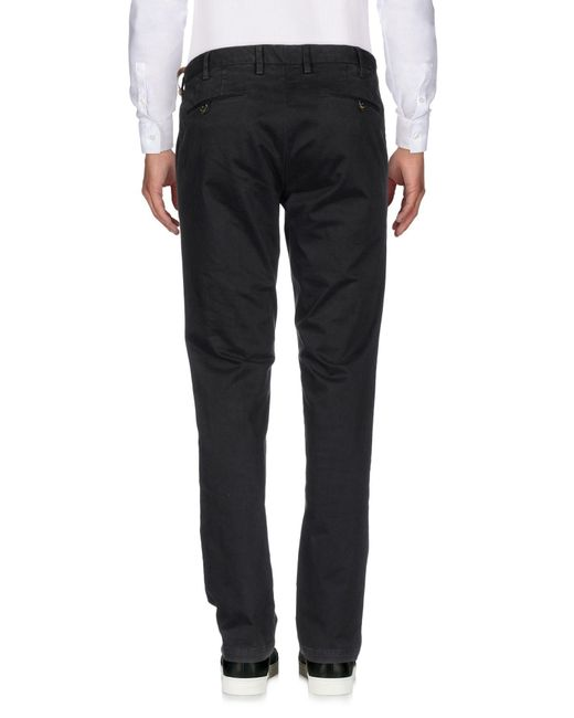 AT.P.CO Black Casual Pants for men