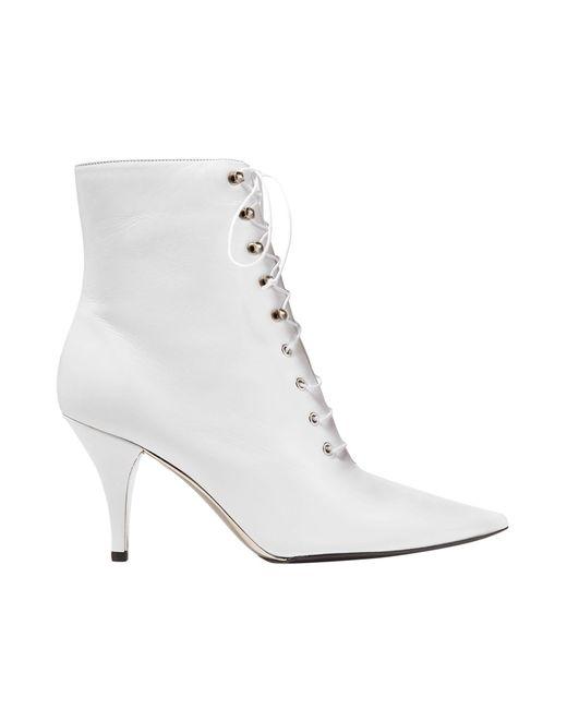 CALVIN KLEIN 205W39NYC White Ankle Boots