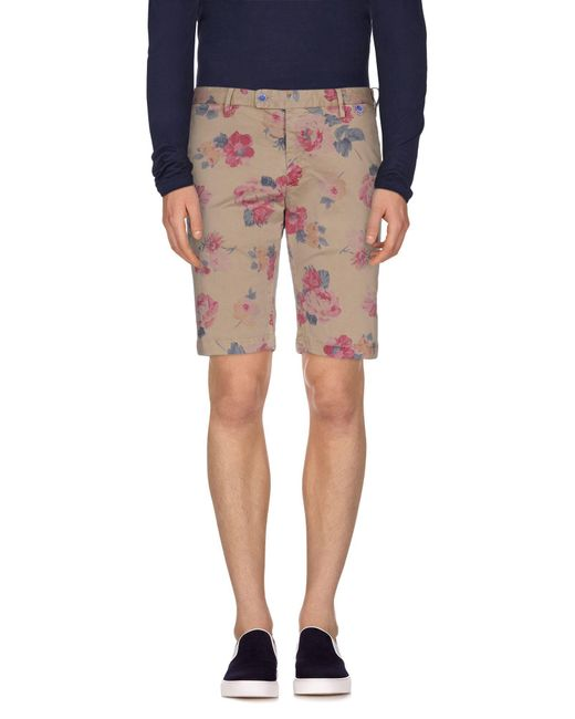 AT.P.CO - Natural Bermudas for Men - Lyst