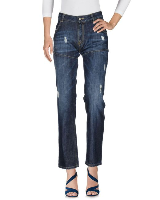 Manila Grace - Blue Denim Trousers - Lyst