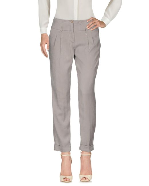 Caractere - Gray Casual Pants - Lyst