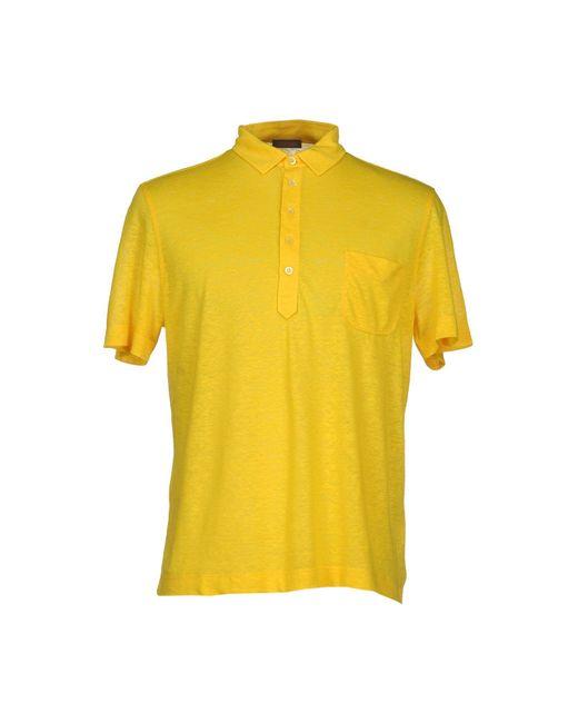 Cruciani - Yellow Polo Shirt for Men - Lyst
