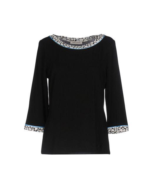 Angelo Marani | Black T-shirt | Lyst