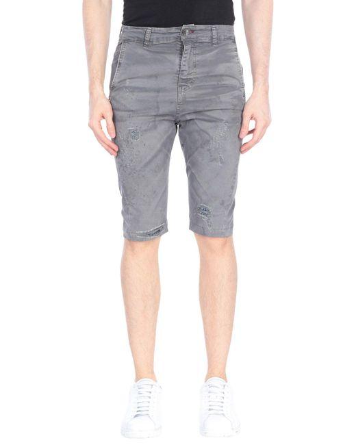 Berna Gray Bermuda Shorts for men
