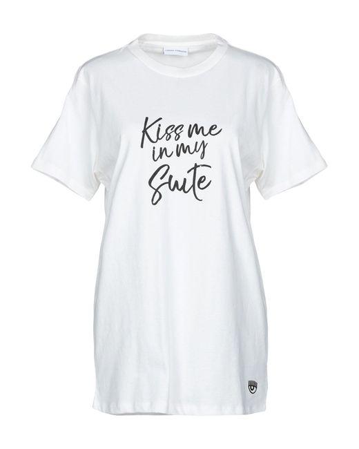 T-shirt di Chiara Ferragni in White