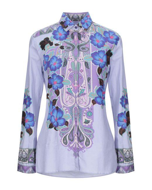 Etro Camisa de mujer de color azul NwS9s