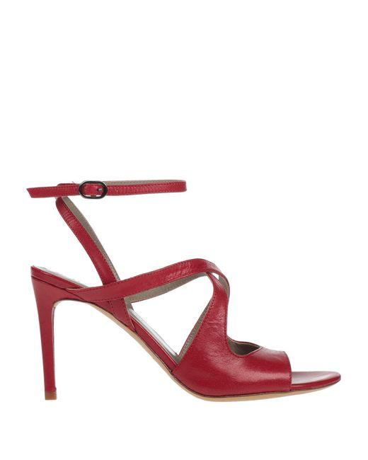 Massimo Rebecchi Sandalias de mujer de color rojo