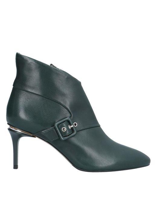 Fabi Botines de caña alta de mujer de color verde