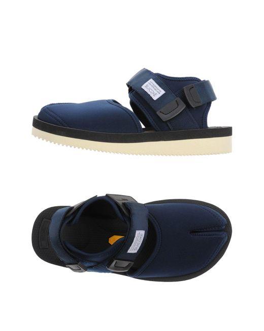 Suicoke | Blue Sandals | Lyst