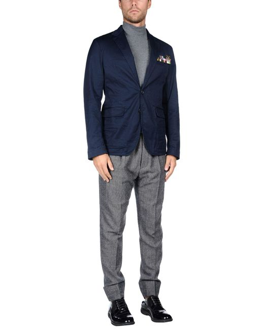 DSquared² Blue Suit Jacket for men