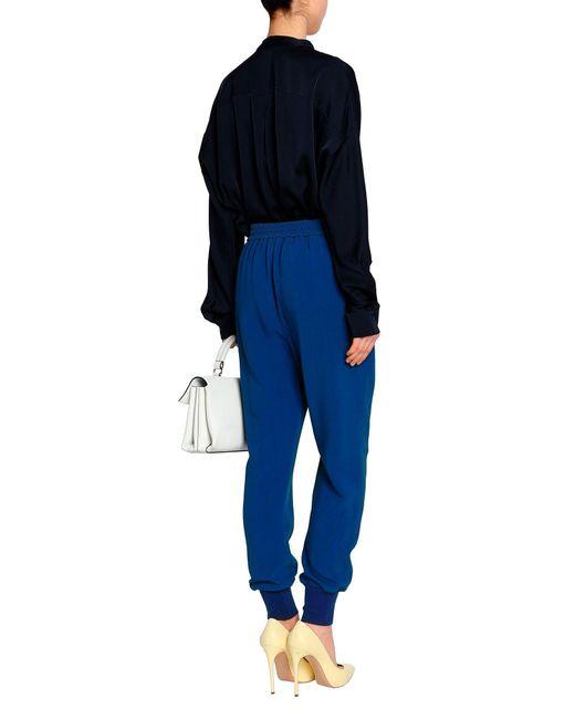 Stella McCartney Pantalones de mujer de color azul