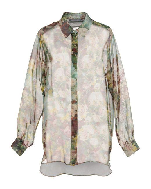 Alberta Ferretti - Green Shirt - Lyst