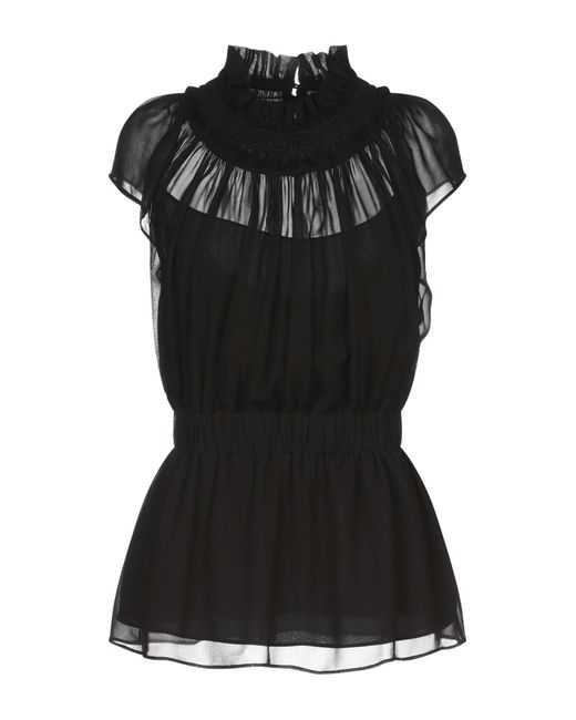 Proenza Schouler Blusa de mujer de color negro ihj5p