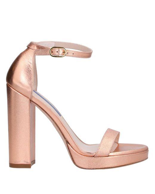 Stuart Weitzman Sandalias de mujer de color rosa