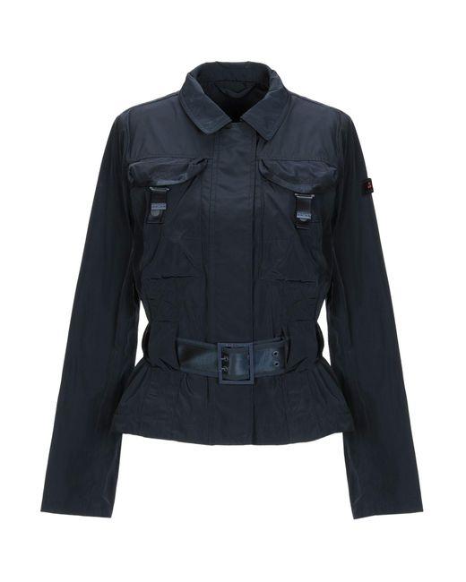 Peuterey - Blue Overcoat - Lyst