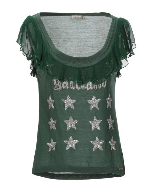 T-shirt di John Galliano in Green