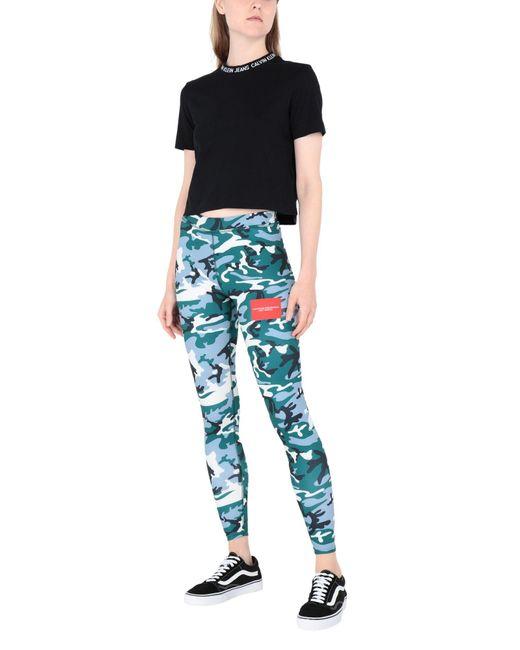 CALVIN KLEIN x ANDY WARHOL Leggings femme de coloris vert ohHwU