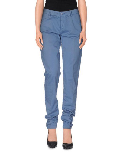 Tru Trussardi - Blue Casual Pants - Lyst