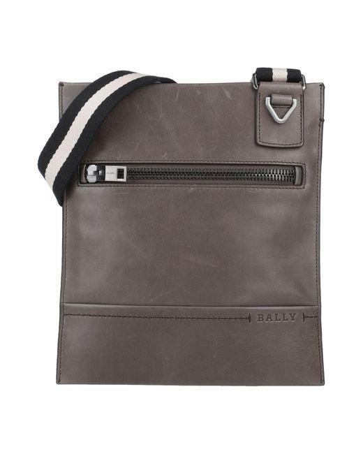 Bally Gray Shoulder Bag for men