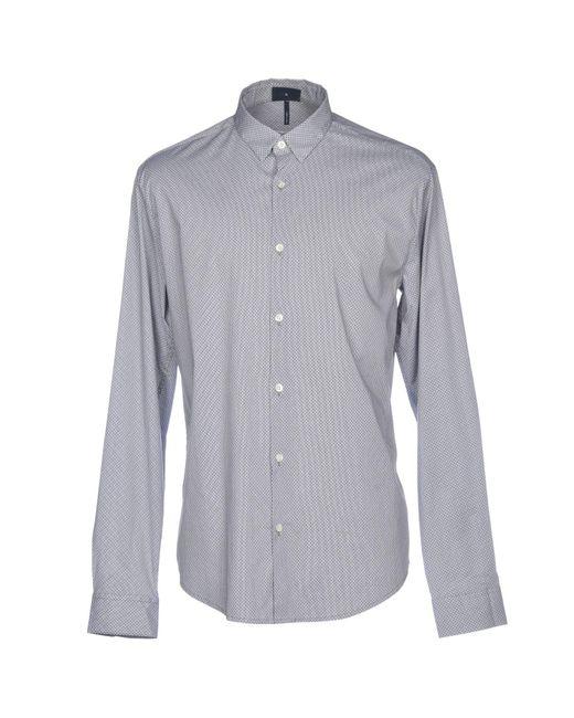 Chemise Armani Jeans pour homme en coloris Gray