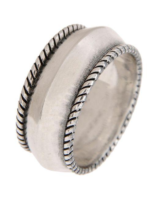 First People First Metallic Ring for men
