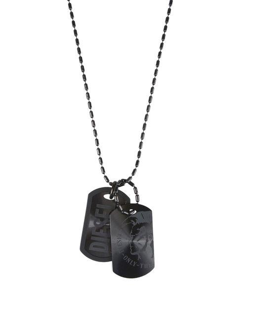 DIESEL - Black Necklaces for Men - Lyst