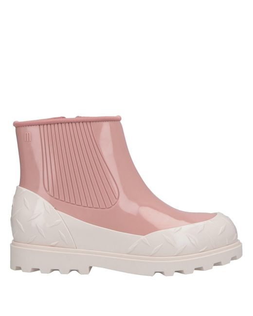 Melissa White Ankle Boots