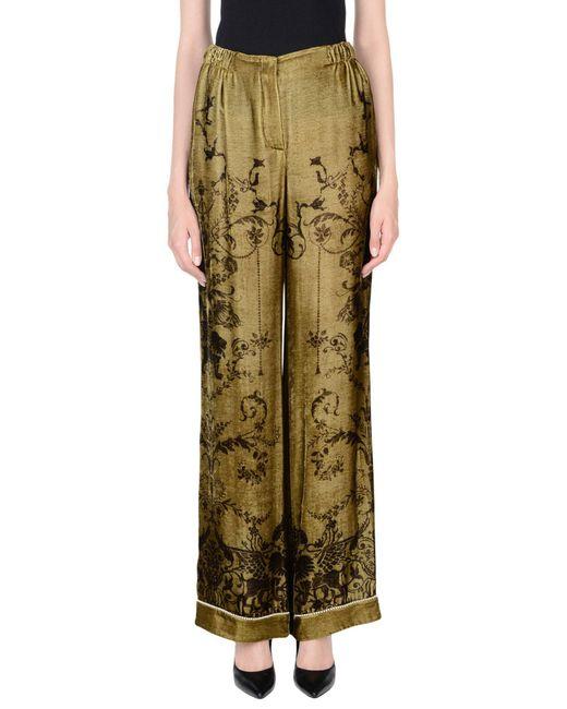 Alberta Ferretti - Green Casual Trouser - Lyst
