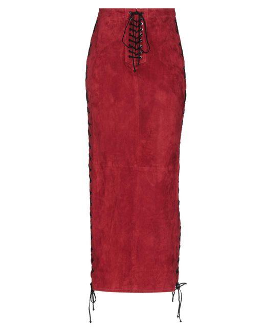 Falda larga Unravel Project de color Red