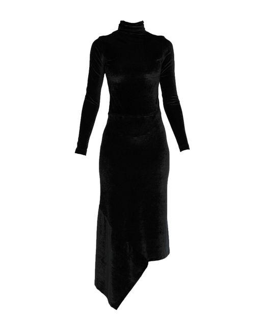 Vetements Robe aux genoux femme de coloris noir X9eF8