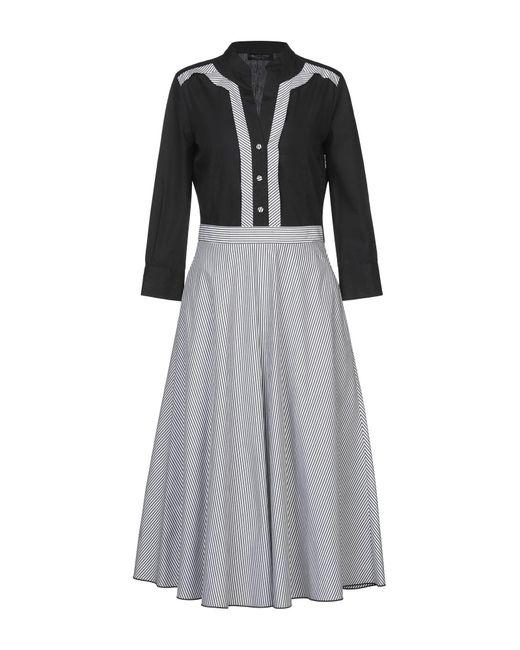 Piazza Sempione Black 3/4 Length Dress