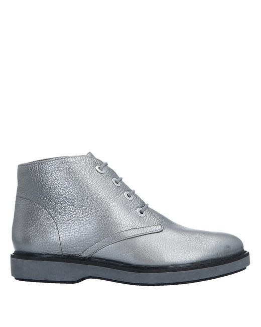 Emporio Armani - Gray Ankle Boots - Lyst
