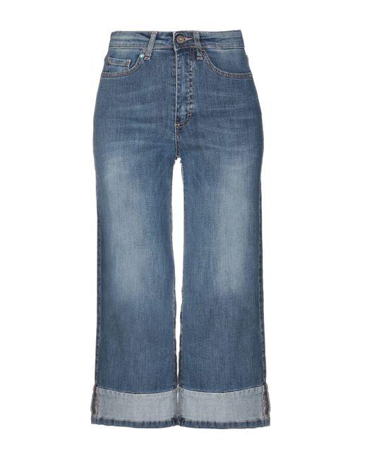 Pantacourt en jean ..,merci en coloris Blue