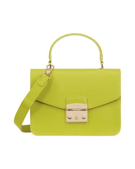 Furla - Green Handbag - Lyst