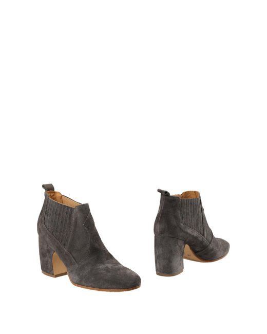 Alberto Fermani Gray Ankle Boots
